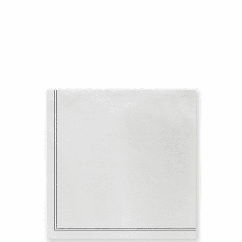 Vietri Papersoft Napkins Linea Gray Cocktail Napkins (Pack of 20)