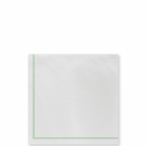 Vietri Papersoft Napkins Linea Green Cocktail Napkins (Pack of 20)