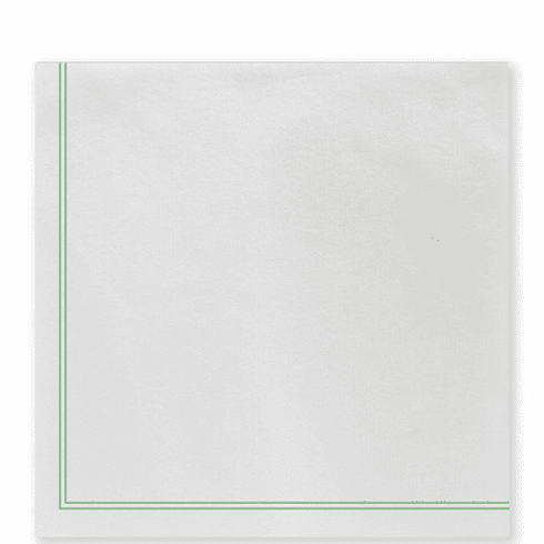 Vietri Papersoft Napkins Linea Green Dinner Napkins (Pack of 50)
