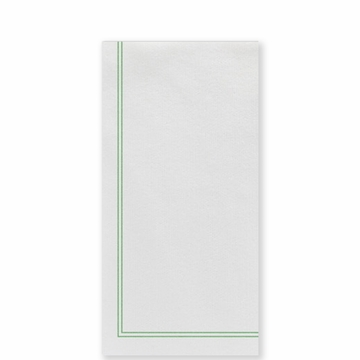 Vietri Papersoft Napkins Linea Green Guest Towels (Pack of 50)