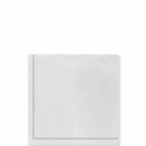 Vietri Papersoft Napkins Linea Light Gray Cocktail Napkins (Pack of 20)