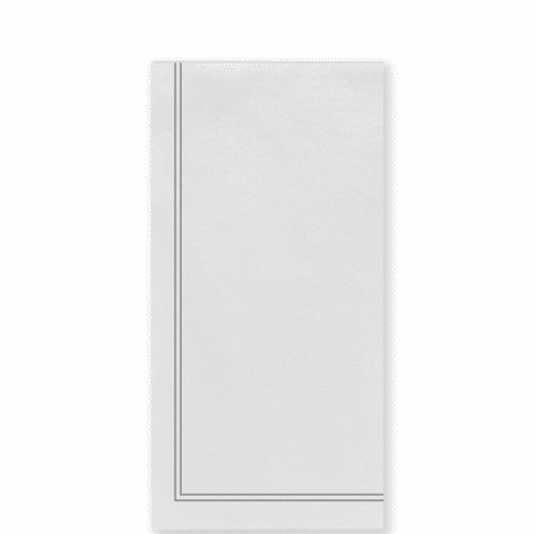 Vietri Papersoft Napkins Linea Light Gray Guest Towels (Pack of 50)