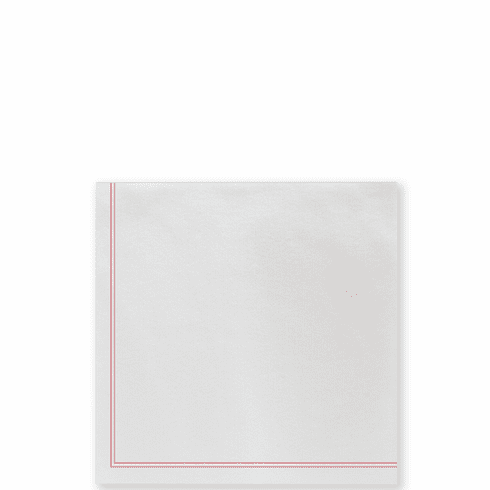 Vietri Papersoft Napkins Linea Red Cocktail Napkins (Pack of 20)