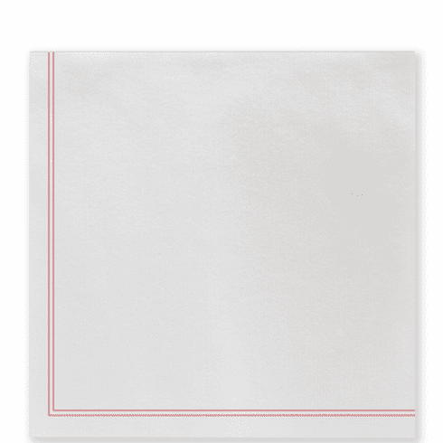 Vietri Papersoft Napkins Linea Red Dinner Napkins (Pack of 50)
