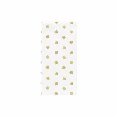 VIETRI Papersoft Napkins Linen Dot Guest Towels (Pack of 50)