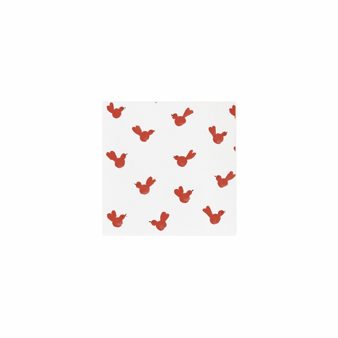 Vietri Papersoft Napkins Red Bird Cocktail Napkins (Pack of 20)