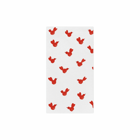 Vietri Papersoft Napkins Red Bird Guest Towels (Pack of 20)