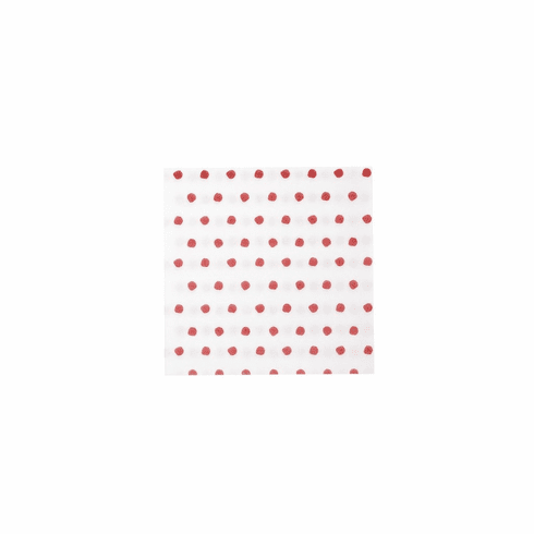 Vietri Papersoft Napkins Red Dot Cocktail Napkins (Pack of 20)