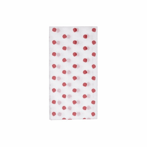 Vietri Papersoft Napkins Red Dot Guest Towels (Pack of 50)
