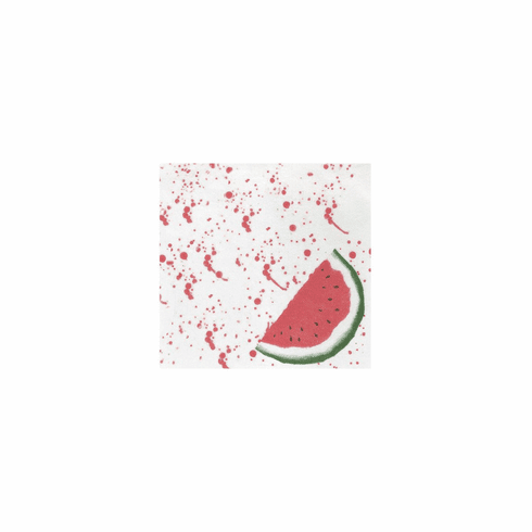 VIETRI Papersoft Napkins Watermelon Cocktail Napkins (Pack of 20)