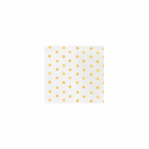 VIETRI Papersoft Napkins Yellow Dot Cocktail Napkins (Pack of 20)