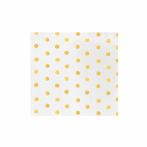 VIETRI Papersoft Napkins Yellow Dot Dinner Napkins (Pack of 20)