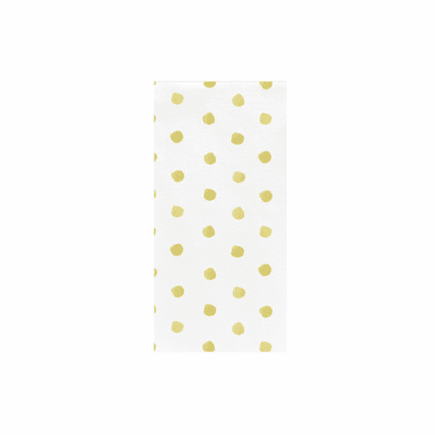 VIETRI Papersoft Napkins Yellow Dot Guest Towels (Pack of 50)