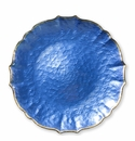Vietri Pastel Glass Cobalt Service Plate/Charger