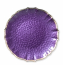 Vietri Pastel Glass Purple Service Plate/Charger