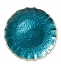 Vietri Pastel Glass Teal Service Plate/Charger