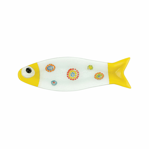 VIETRI Pesci Colorati Yellow Medium Fish Tray