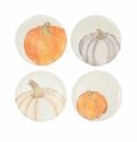 Vietri Pumpkins Assorted Salad Plates - Set of 4