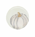 Vietri Pumpkins Salad Plate - Gray Medium Pumpkin