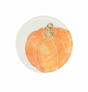 Vietri Pumpkins Salad Plate - Orange Medium Pumpkin