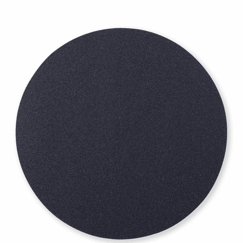 Vietri Reversible Placemats Black and Gray Round Placemat