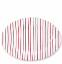 Vietri Stripe Red Medium Oval Platter