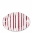 Vietri Stripe Red Small Oval Platter