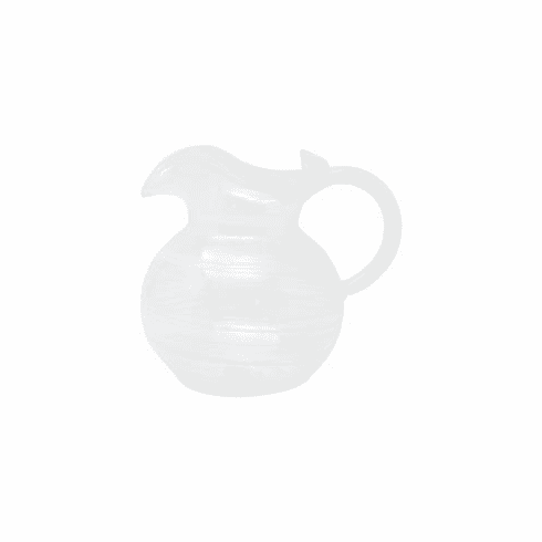 Vietri Swirl White Three-Spout Pitcher