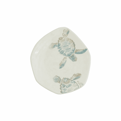 VIETRI Tartaruga Turtle with Tail Salad Plate
