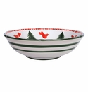 Vietri Uccello Rosso Large Serving Bowl