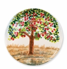 Vietri Wall Plates Apple Tree Round Wall Plate
