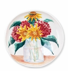 Vietri Wall Plates Floral Bouquet Shallow Serving Bowl