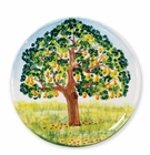 Vietri Wall Plates Pear Tree Round Wall Plate