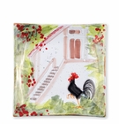 Vietri Wall Plates Rooster Square Wall Plate