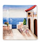 Vietri Wall Plates Seaside Villa Square Wall Plate