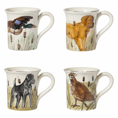 Vietri Wildlife Assorted 14oz Mugs
