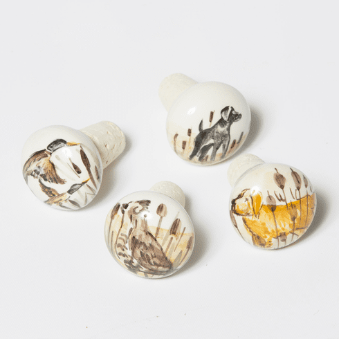 Vietri Wildlife Assorted Cork Stoppers (4)