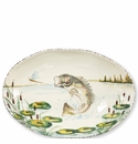 Vietri Wildlife Bass Oval Bowl
