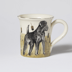 Vietri Wildlife Black Hunting Dog 14oz Mug