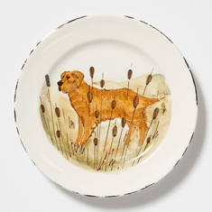 Vietri Wildlife Hunting Dog Dinner Plate