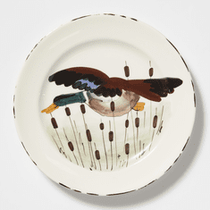Vietri Wildlife Mallard Dinner Plate