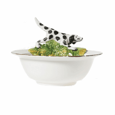 Vietri Wildlife Serving Bowl with Hunting Dog