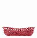 Vietri Woven Baskets Red Bread Basket