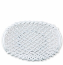 Vietri Woven Baskets White Large Basket