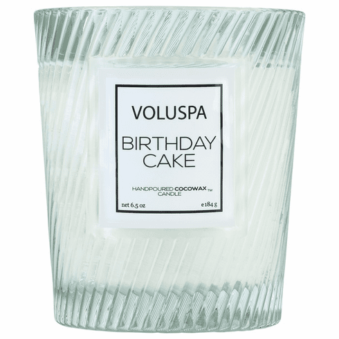 Voluspa Birthday Cake Classic Textured Candle