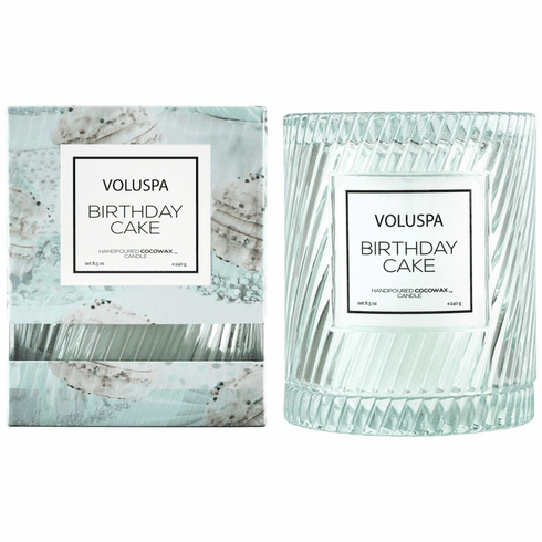 Voluspa Birthday Cake Icon Candle With Cloche Cover