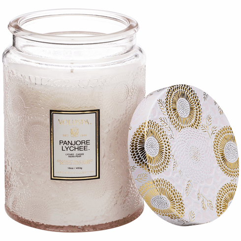 Voluspa Panjore Lychee Large Glass Candle