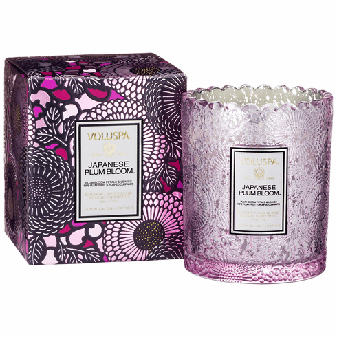 Voluspa Scalloped Japanese Plum Bloom Boxed Candle