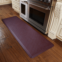 WellnessMats 6x2 Trellis Palm Wood