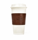 White Wing Leather Coffee Sleeve